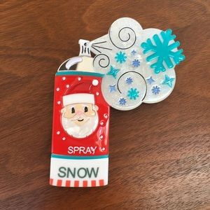Lipstick & Chrome Santa Spray Snow Brooch